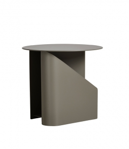 Woud stolik Sentrum side table Taupe painted metal- z ekspozycji