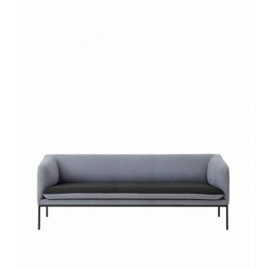Ferm Living 2-kolorowa sofa Turn / 3-osobowa / Cotton
