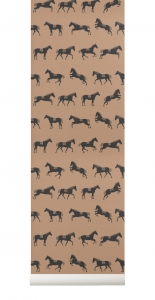 Ferm Living tapeta Horse Wallpaper
