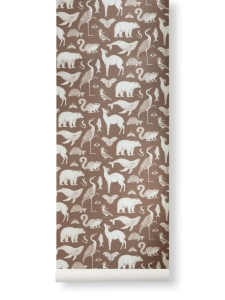 Ferm Living tapeta Katie Scott Wallpaper - Animals - warianty