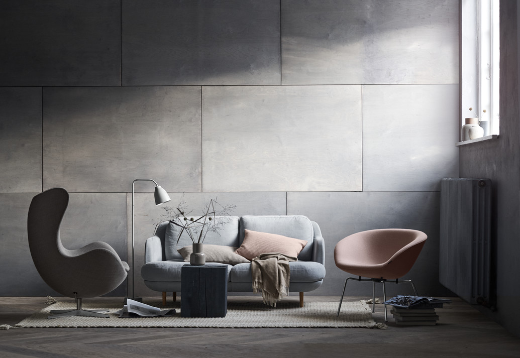 Fritz Hansen, Egg chair, sofa Lune, fotel Pot
