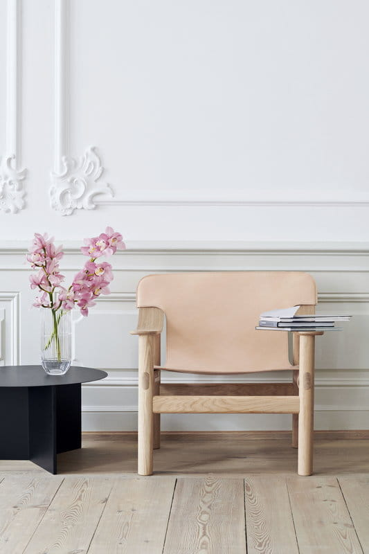 MUUTO stół na kółkach BASE Round - Ø110cm, blat biały lub
